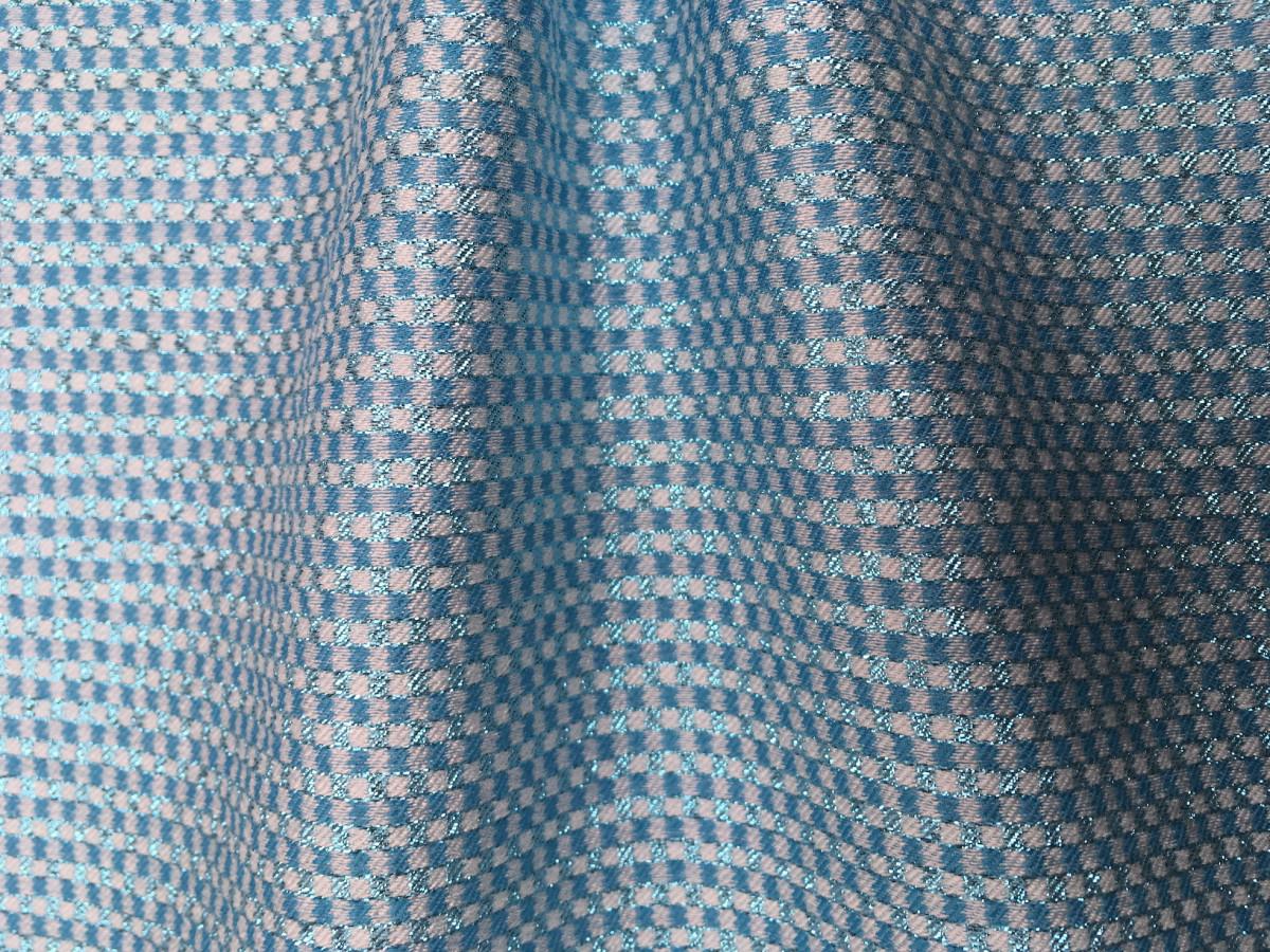 inmatex tejido moda pequeños cuadros color y lurex