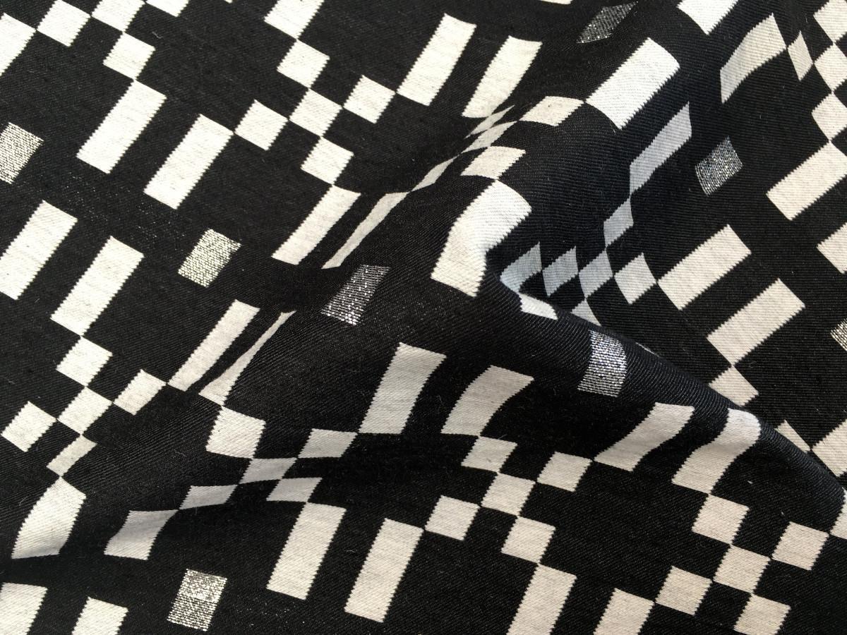 inmatex tejido moda cuadros color y lurex