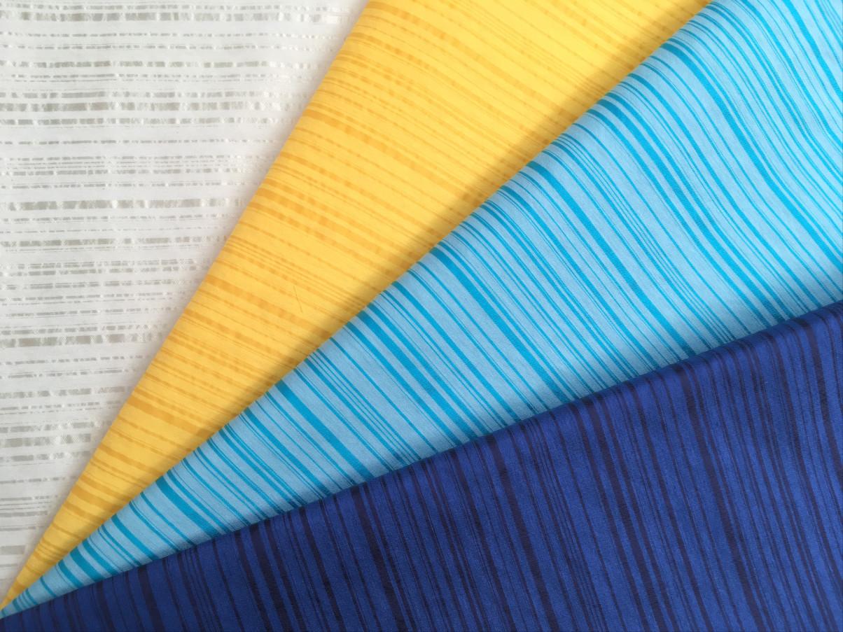 inmatex tejido moda rayas finas brillo-mate colores