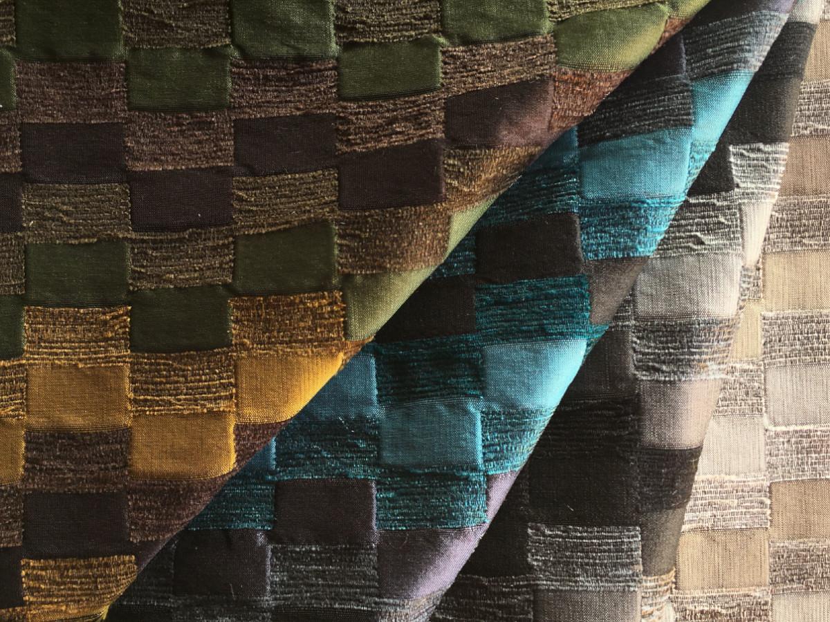 inmatex tejido moda cuadros brillo y chenilla de colores