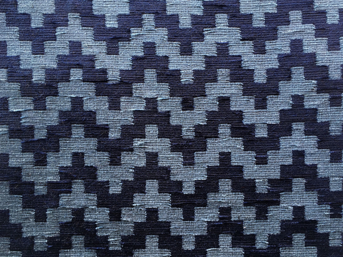 inmatex tejido moda dibujo zigzag chenilla de colores