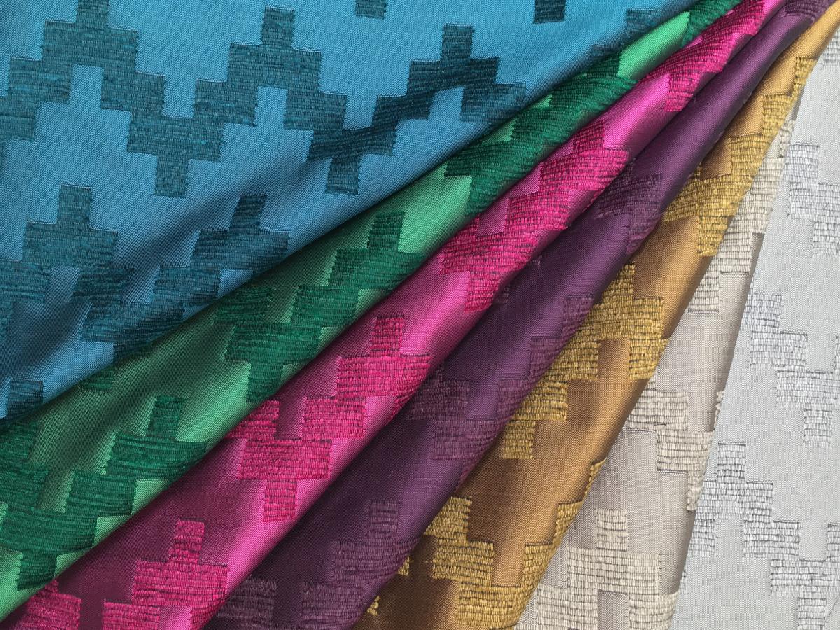 inmatex tejido moda dibujo geométrico brillo-chenilla