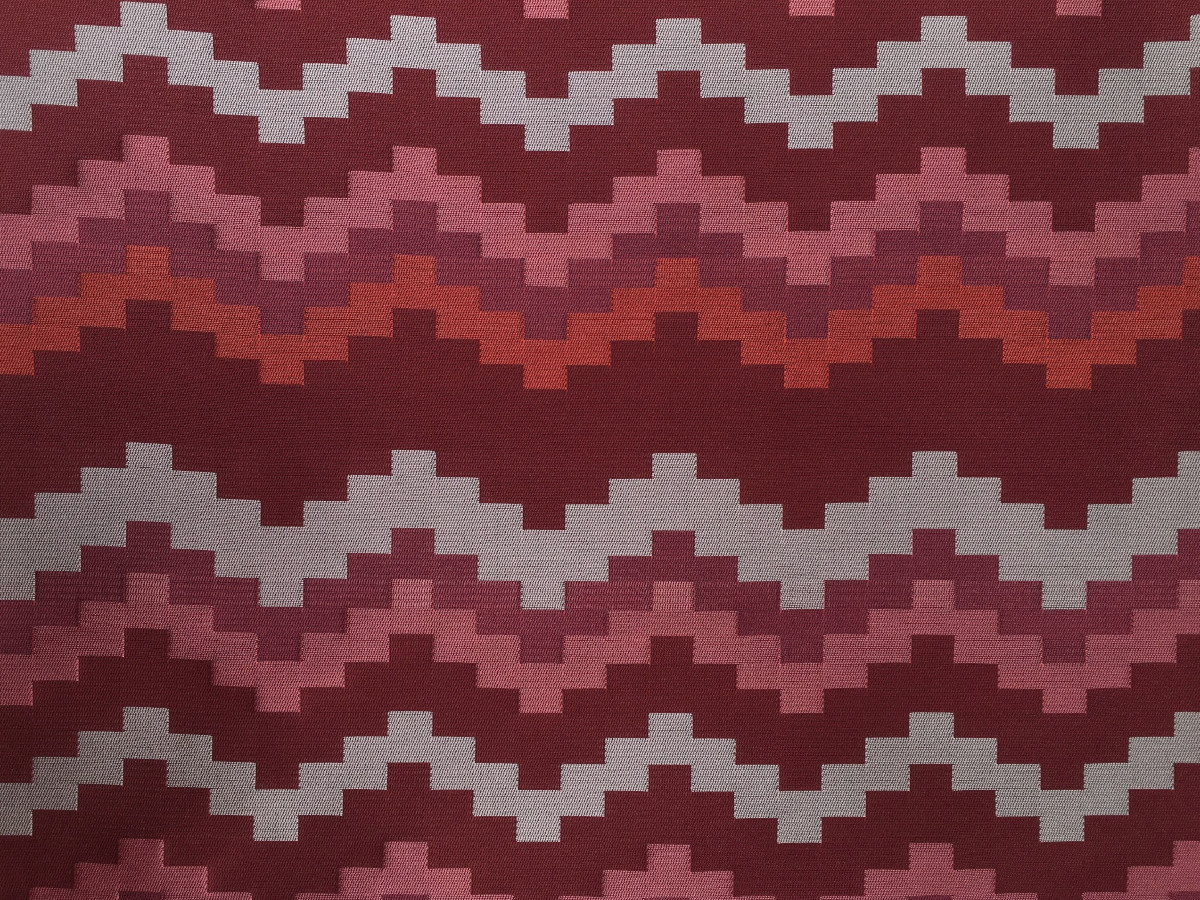inmatex tejido moda dibujo geométrico zigzag brillo colores