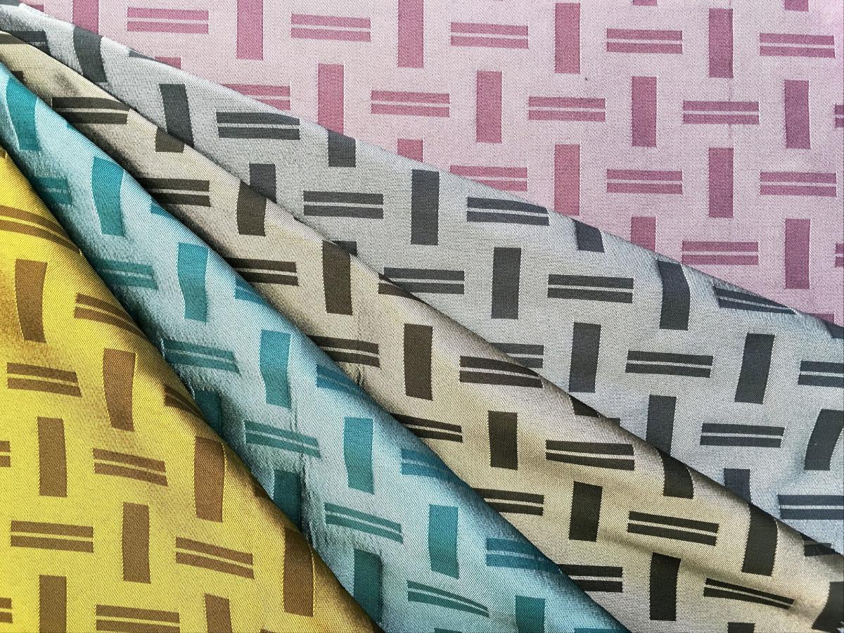 inmatex tejido decoracion brillo mate motivo geometrico