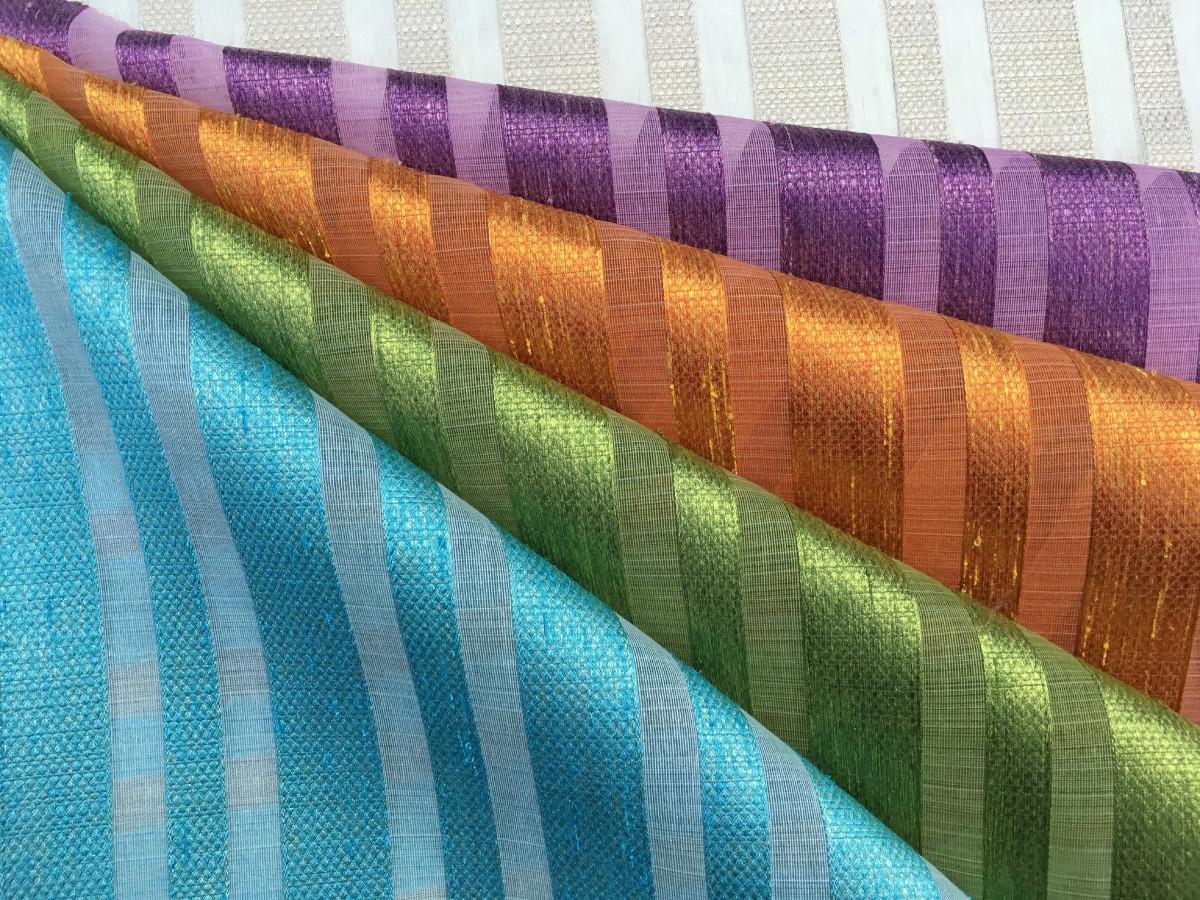 inmatex tejido moda rayas semitransparente y brillante distintos colores