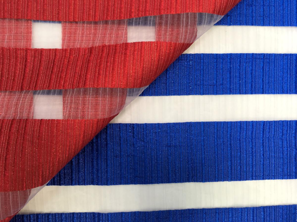 inmatex tejido moda organza rayas color brillante y transparente