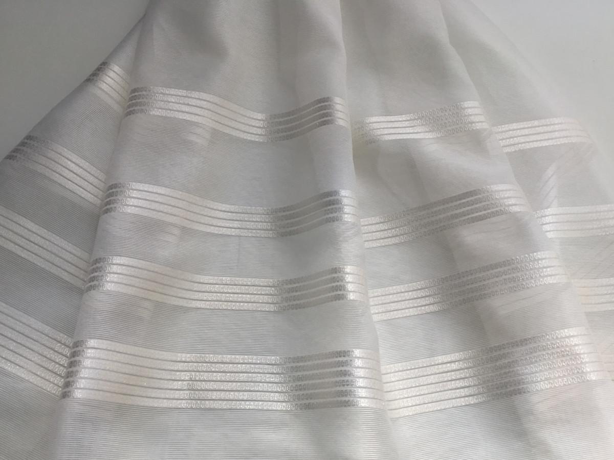 inmatex tejido comunion organza rayas semitransparentes