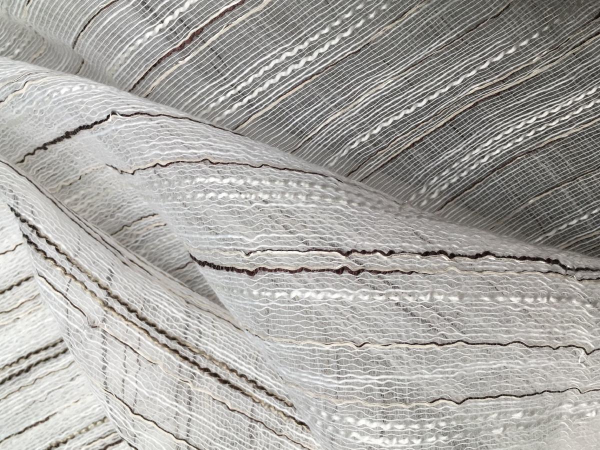 inmatex tejido transparente con hilos de fantasía