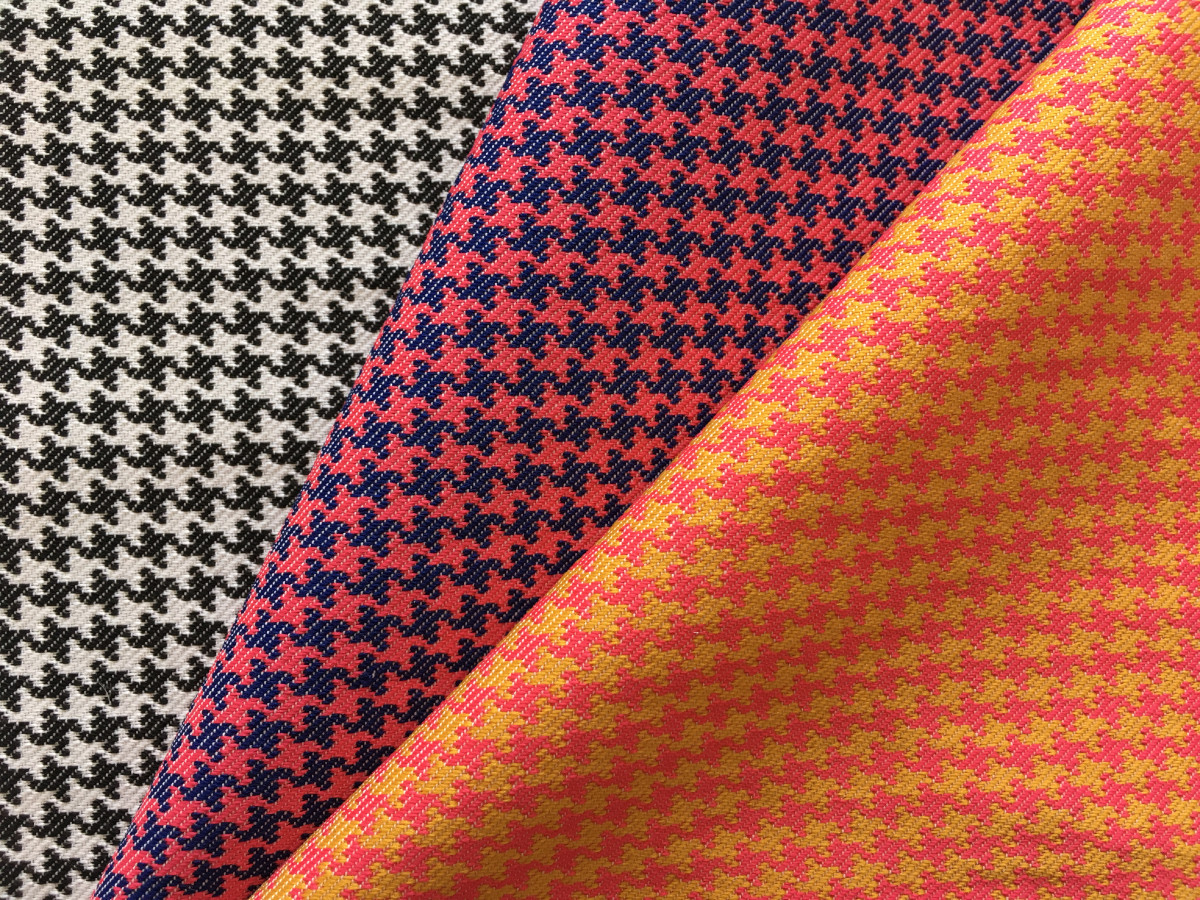 inmatex tejido con dibujo pata de gallo colores