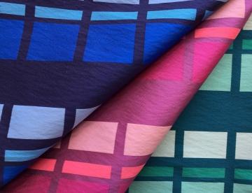 inmatex tejido moda cuadros brillo color