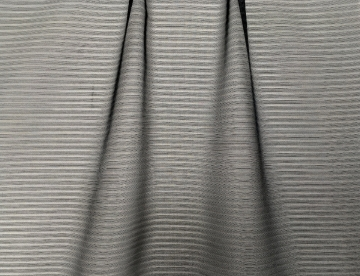 inmatex tejido moda rayas finas organza negra