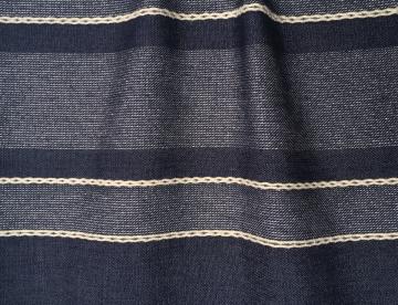 inmatex tejido moda  rayas jean y lurex
